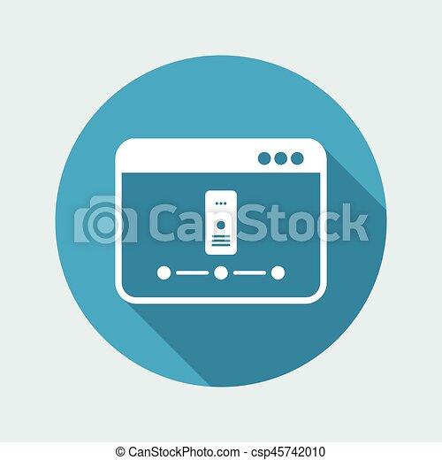 Server network - Vector flat minimal icon - csp45742010