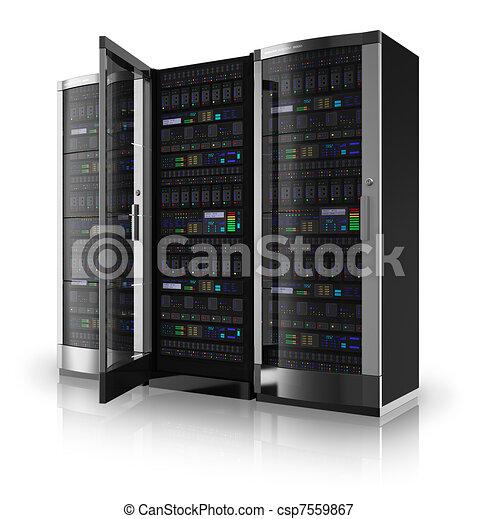 Server racks with open door - csp7559867