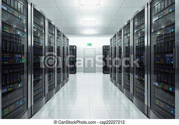Server room in datacenter - csp22227212