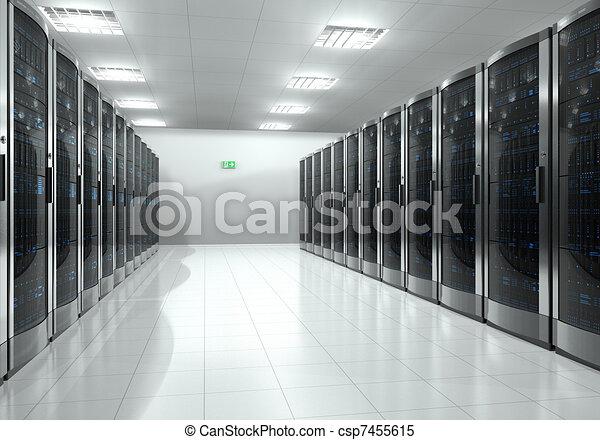 Server room interior - csp7455615
