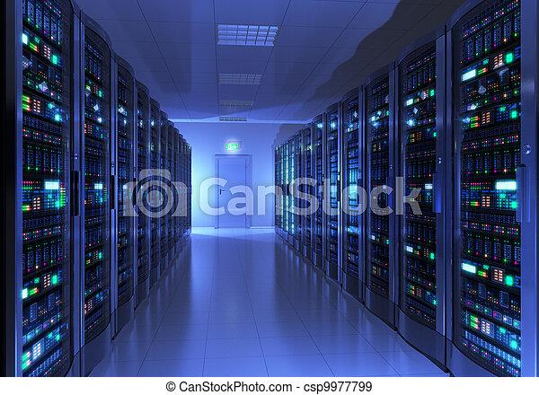serverraum, inneneinrichtung - csp9977799