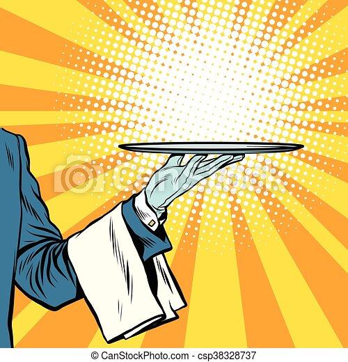 serveur plateau pr sentation main art serveur vecteurs rh canstockphoto fr clipart plateau repas clipart plateau de fromages
