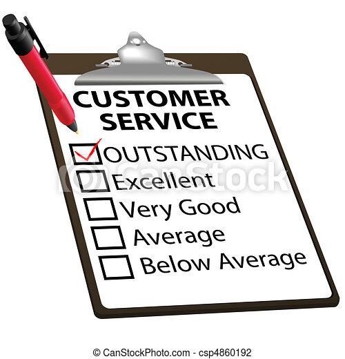 service clientèle, formulaire, remarquable, rapport, évaluation - csp4860192