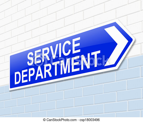 service department sign illustration depicting a sign with a