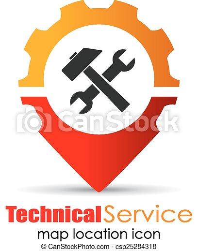 Service location marker - csp25284318