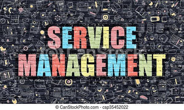 Service Management in Multicolor. Doodle Design. - csp35452022