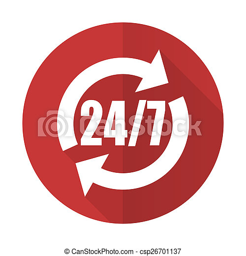 service red flat icon - csp26701137