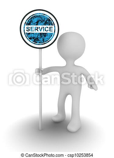 service sign - csp10253854