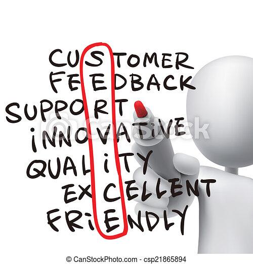 service word written by 3d man - csp21865894