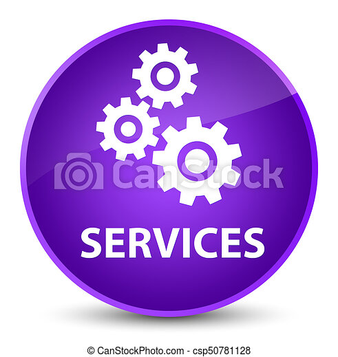 Services (gears icon) elegant purple round button - csp50781128