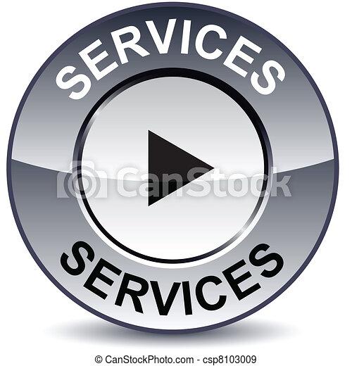 Services round button. - csp8103009