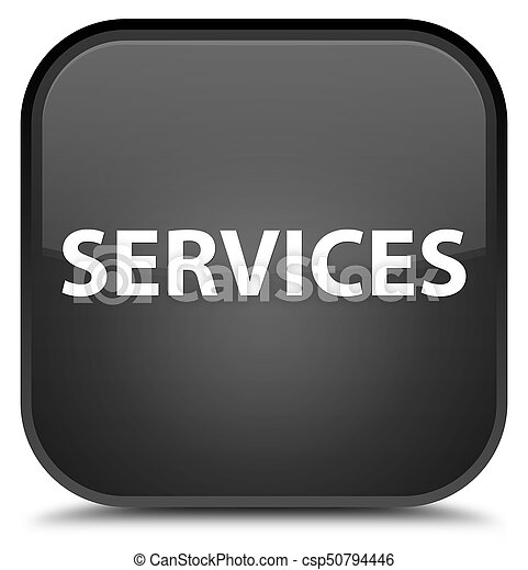 Services special black square button - csp50794446