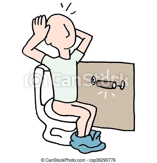 Baño sin papel higiénico - csp36290776