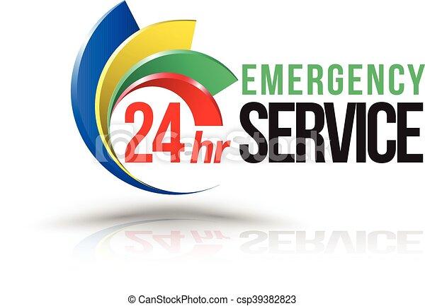 Logo del servicio de emergencia 24hr. - csp39382823