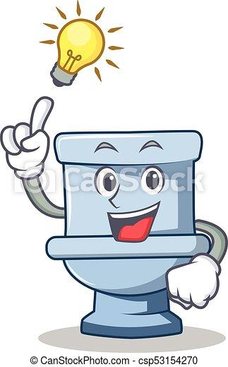 Tengo una idea del estilo de dibujos animados del personaje del baño - csp53154270