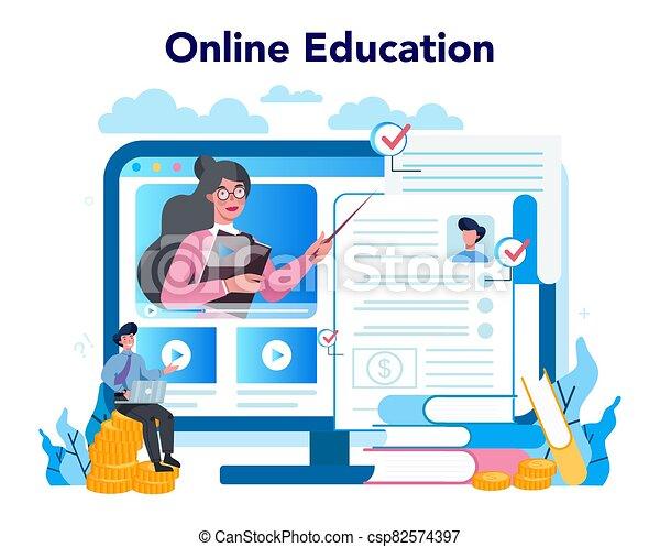 servicio, seguro, o, empresa / negocio, financiero, en línea, underwriter, platform. - csp82574397