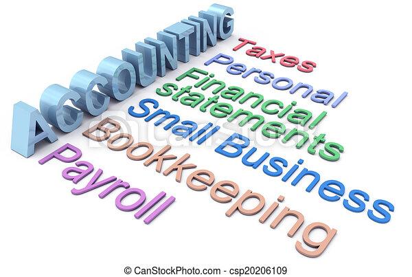 servicios, contabilidad, impuesto, nómina de sueldos, palabras - csp20206109