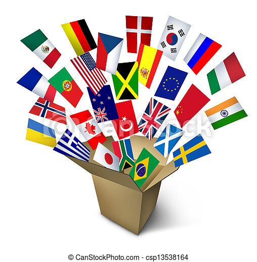 servicios, global, envío - csp13538164