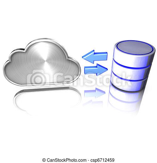 servicios, ofertas, nube, base de datos - csp6712459