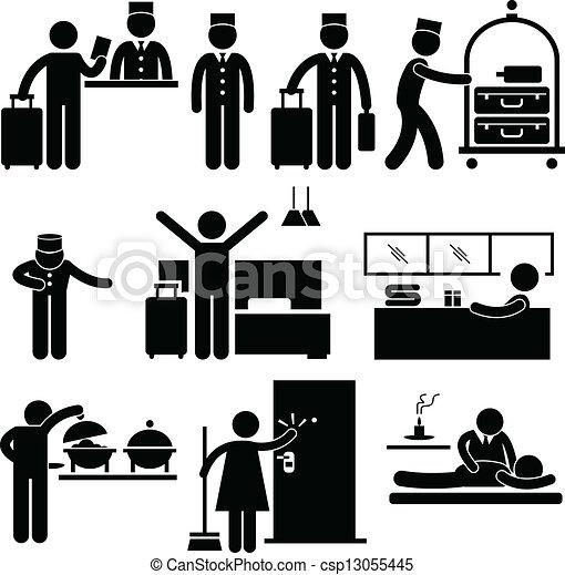 Trabajadores de hoteles y servicios - csp13055445