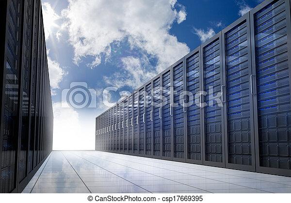 Pasillo de servicio en el cielo - csp17669395