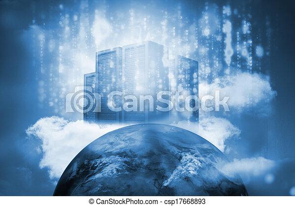 Torre de servicio en la cima de la tierra - csp17668893