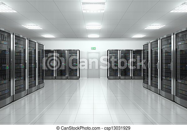 Sala de servicio en el centro de datos - csp13031929