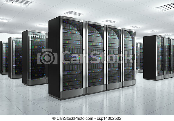 servidores de la red en el centro de datos - csp14002502