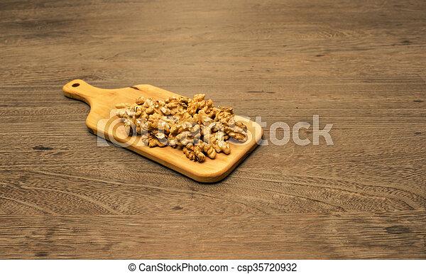 Servierplatte Holz Hintergrund Walnuß