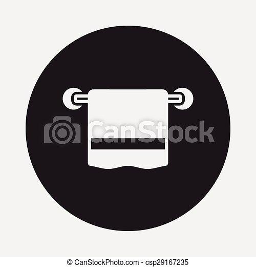 serviette, icône - csp29167235
