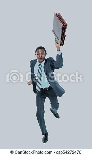 serviette, isolé, arrière-plan., courant, homme affaires, blanc - csp54272476