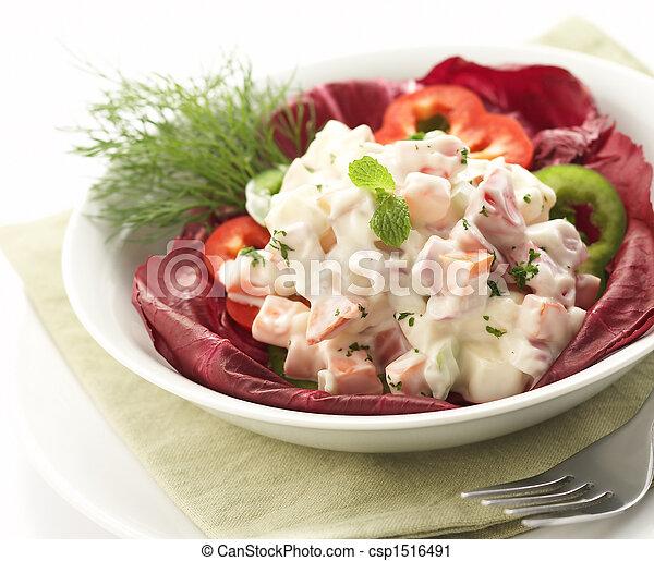 servito, ciotola, insalata - csp1516491