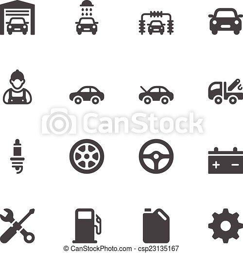 servizio automobile, icone - csp23135167