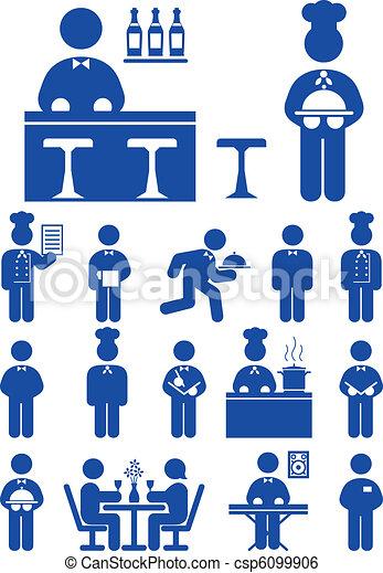 servizio cibo, icona - csp6099906