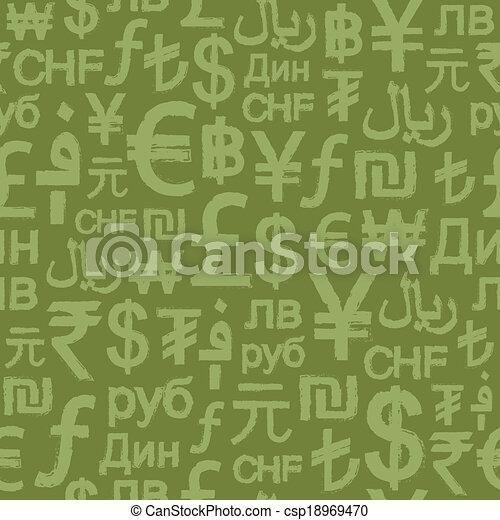 Sesmless Grunge International Money - csp18969470