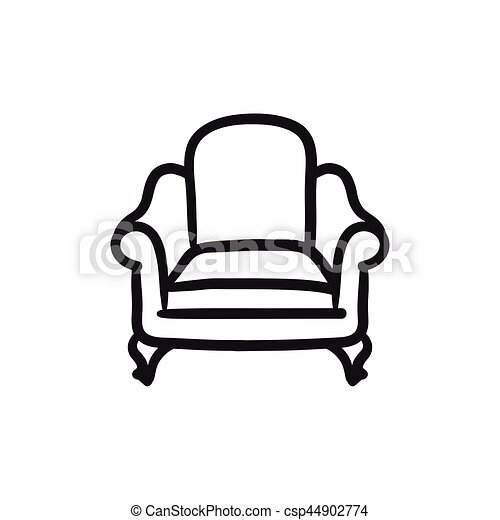 Sessel skizze  Sessel, skizze, icon. Website, skizze, hintergrund.,... Vektoren ...