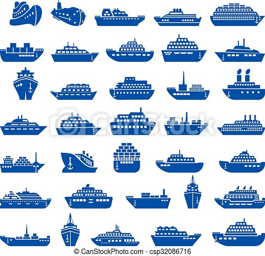 set., 30, hajó, csónakázik, ikon - csp32086716