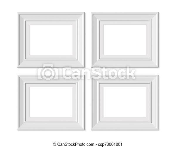 Set 4 3x4 horizontal landscape picture frame mockup ...
