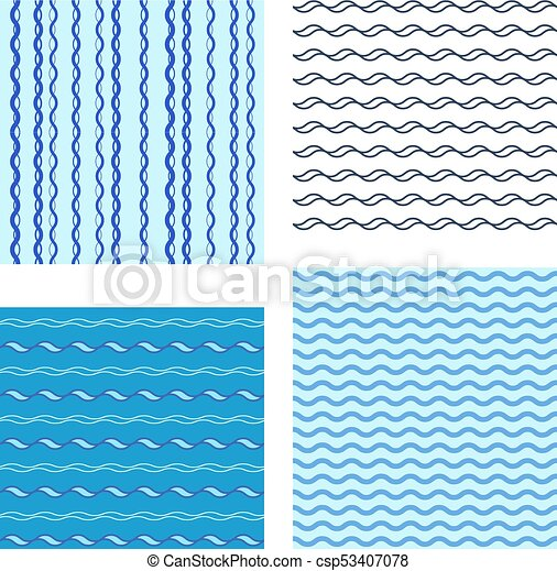Set Abstract Wave Pattern