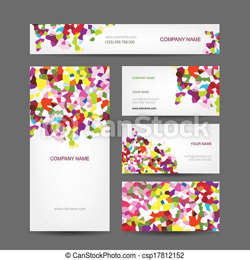 set, affari, astratto, creativo, disegno, cartelle - csp17812152
