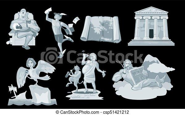 Set Ancient greek god in the present world