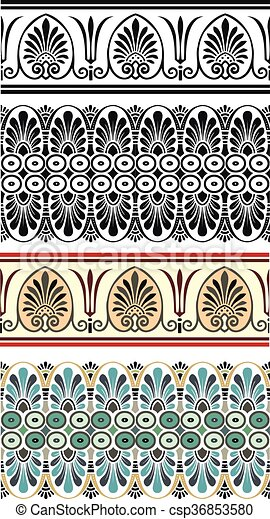 Set antique greek ornaments - csp36853580