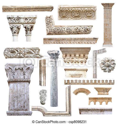 set, architectuur, details - csp8098231