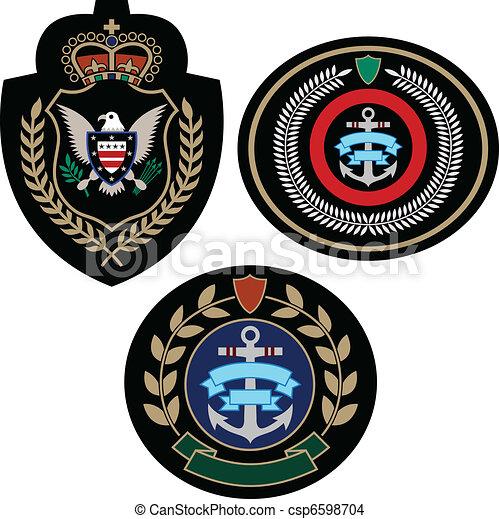 set, badge, avontuur - csp6598704