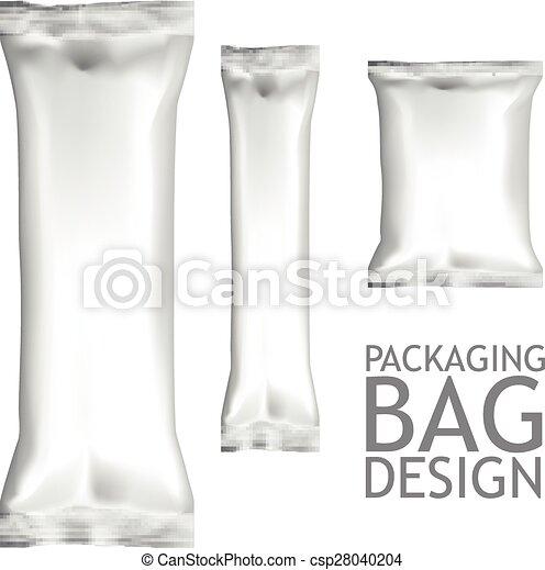 Set Blank Foil Food Snack Packages - csp28040204