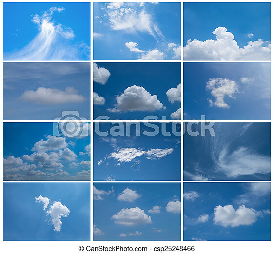 Set blue Sky daylight collection - csp25248466