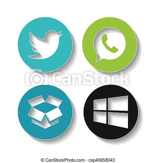 set brands of the web - csp40658043