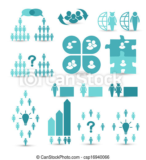 Set business icons, management and human resources - csp16940066