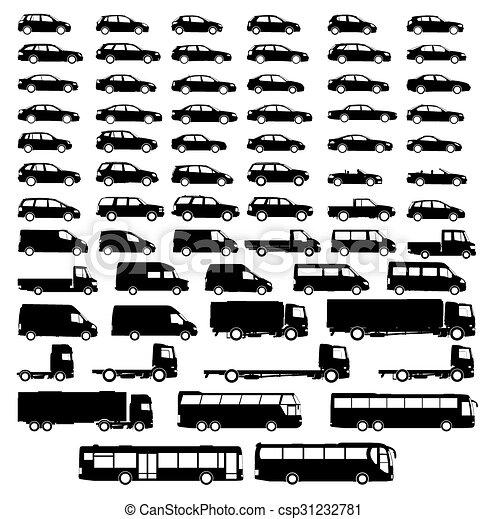 set car silhouette - csp31232781