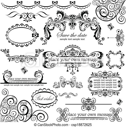 set., casório, design. - csp18872625